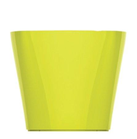 Maceta autorregable OC1009 decorativa ovalada bajita - Mini moderna interior - Suculentas - Riego inteligente - verde...