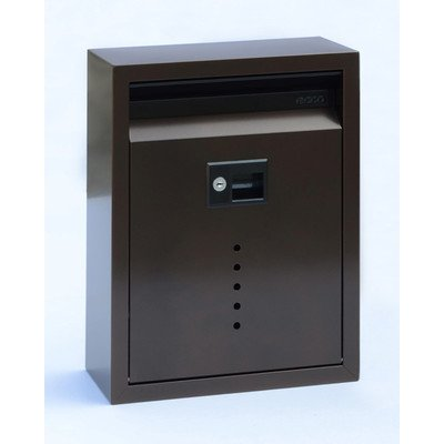 Wall Mounted Mailbox with Lock Color: Bronze, Size: Large (15'' H x 11.5'' W x 5'' D) by ECCO