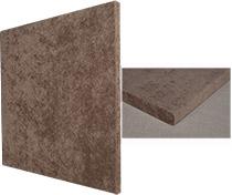 Angled view of the Auralex SonoLite 1-inch x 2-feet x 2-feet Sound Absorption Panels - Tan