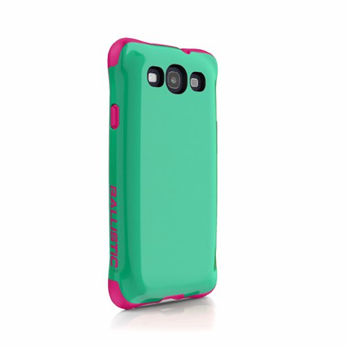 Clear Astoria Crystal (Ballistic AP1127 - A035 Aspira Case for Samsung Galaxy S III - 1 Pack - Retail Packaging - Green/Pink)