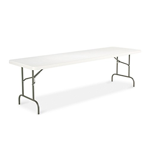 - Alera 8' Resin Folding Table - Platinum