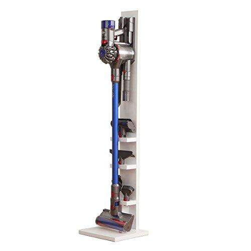 다이슨(DYSON) 무선 클리너 전용 스탠드 벽걸이 수납 나사 부착 V10 V8 V7 V6 DC74 DC62 DC45 DC35 대응 (툴 수납 모델 / 화이트)