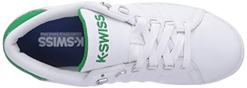 K-Swiss LOZAN III, Low-Top Sneaker uomo Bianco (Weiß (White/Jolly Green 108))