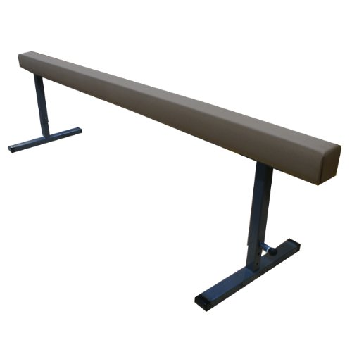 The Beam Store Adjustable Height 8-Feet Tan Suede Balance Beam (30-Inch) Made in USA