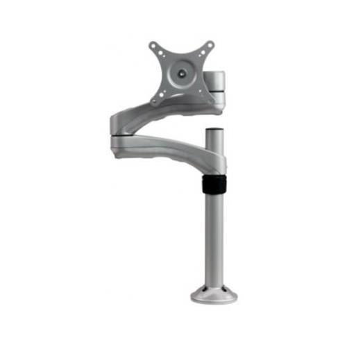 Dyconn DE540S-SLV Articulating TV/Monitor Grommet or Clamp Desk Mount