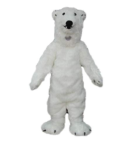 Adult Size Lovely Polar Bear Mascot Costume for Entertainment Theme Park Mascots Carnival Dress