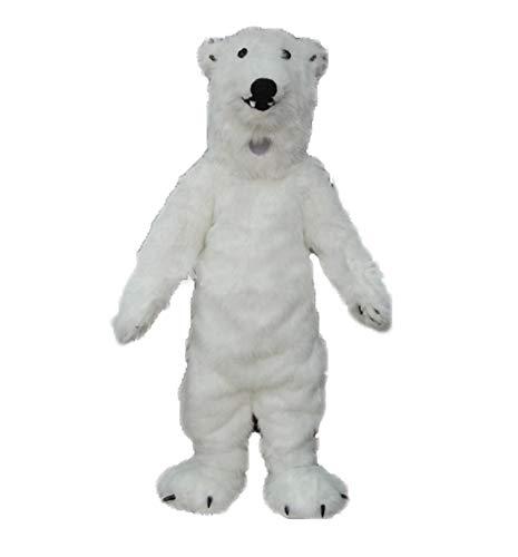 Adult Size Lovely Polar Bear Mascot Costume for Entertainment Theme Park Mascots Carnival Dress -
