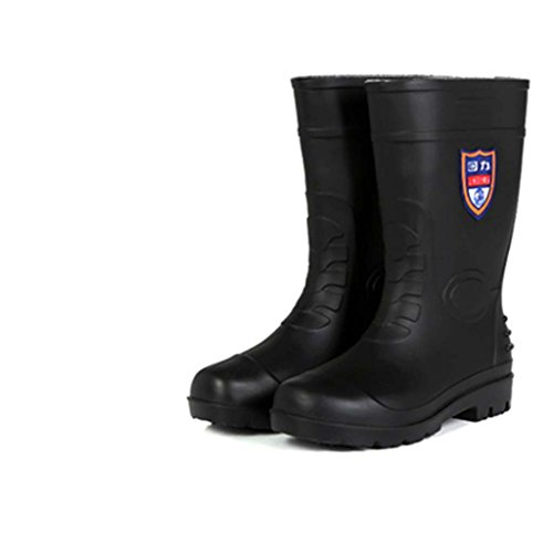 Bottes De Pluie Hommes Tube Bottes Hautes Chaussures De L'eau Bottes De Travail Noir Imperméable Anti-Dérapant Imperméables Hommes Chaussures Chaussures,Style-Size,40-#2