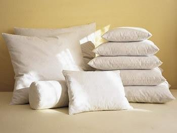 7 x 15 Neckroll White Feather//Down Pillow Form White
