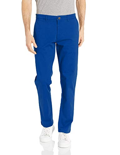 Goodthreads Men's Slim-Fit Washed Stretch Chino Pant, Bright Blue 38W x 34L ()