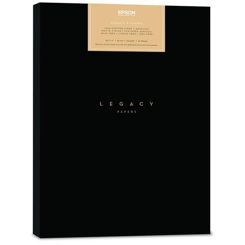 """Epson Legacy Etching Textured Matte Paper, 20 mil, 8.5x11"""", 25 Sheets"""