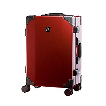 Image of Luggage Andiamo Classico Suitcase with Built-in TSA Lock - Zipperless 20 Inch Hardside Carry On Bag- Lightweight (ABS+PC) Luggage With 8-Rolling Spinner Wheels (Red Ruby)