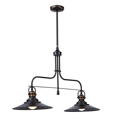 Artcraft Lighting Heath Double-Light Island Fixture, Dark Bronze