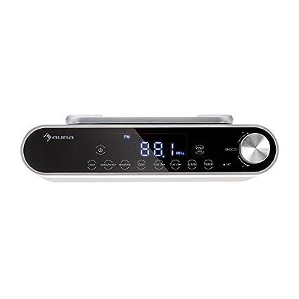 auna KR-130 • Radio de cocina • Bajo mueble • Estéreo • Bluetooth • Manos libres • FM-PLL • Iluminación LED • Alarma • Control táctil • Memoria 40 emisoras ...