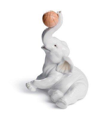 ELEPHANT BASKET Lladro Porcelain by Lladro Porcelain