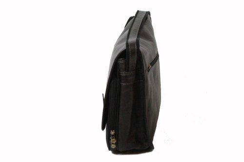 Bolso Katana negro Piel Negro hombro de al para hombre rrT6dqx