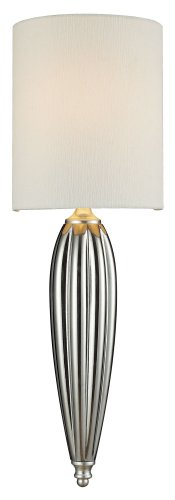 picture of Hgtv Home Martique 1-Light Sconce, Silver Leaf