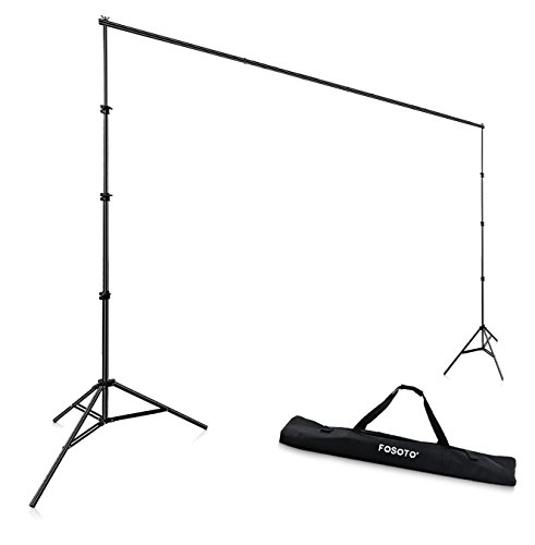 FOSOTO Photo Studio Background Frame Folding Tripod Stand,10 x 8.4 ft Adjustable Photography Backdrop Support System Kit Equipment for Video Studio Photographic Accessories by FOSOTO