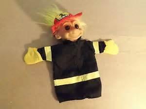 Fireman Hand Puppet - Fireman Troll Hand Puppet NWT by Russ