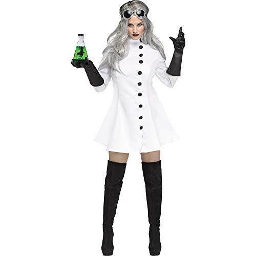 Scientist Costume For Halloween (Fun World Women's Mad Scientist, Multi, Size)