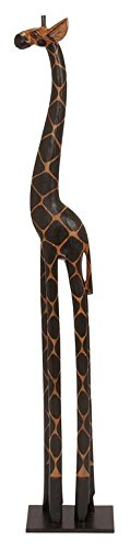 (Deco 79 Tall Giraffe Statue, Dark Brown)