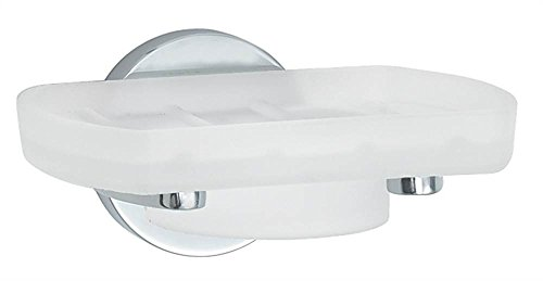 (Loft Holder with Frosted Glass Soap Dish Finish: Polished Chrome)