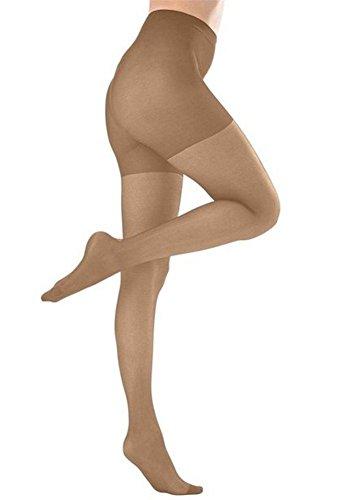 Butterfly Hosiery Women's Ladies Plus Size Queen Mild Compression Microfiber Pantyhose / Tights Stockings Suntan 3X