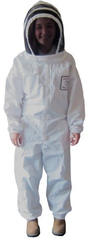 Mann Lake CV525 Cotton/Polyester Honey Maker Bee Suit with Veil, White, Petite by Mann Lake