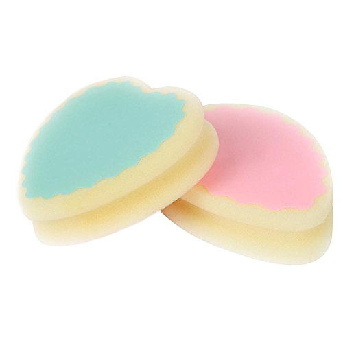 Hair Remove Sponge Hosamtel Peach Heart Teardrop Shape Magic Painless Hair Removal Depilation Sponge Pad for Leg Arm(Random - Face Shape How Get Good To Of