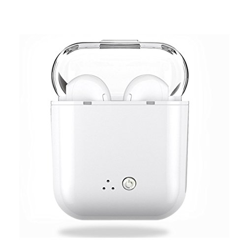 Wireless Earphone,Bluetooth Earbuds/Stereo-Ear Sweatproof Earphones with Noise Cancelling and Charging Case Fit for iPhone X/8/7/7 Plus/6S/6S Plus and Samsung Galaxy S7/S8/S8 Plus by Zsjijia
