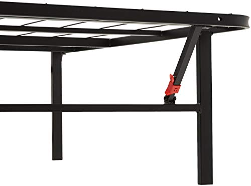 AmazonBasics Foldable Platform Bed Frame - Tool-Free Assembly - Under-Bed Storage -Full (Renewed)