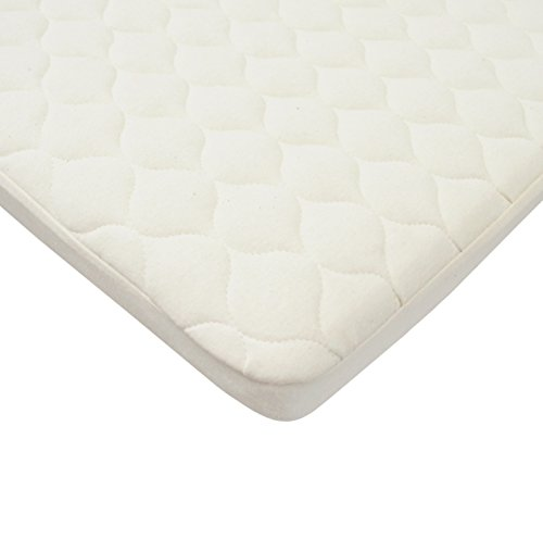 American Baby Company Natural Waterproof Quilted Bassinet Size Fitted Mattress Cover Made with Organic - Mattress Pad Organic Cradle
