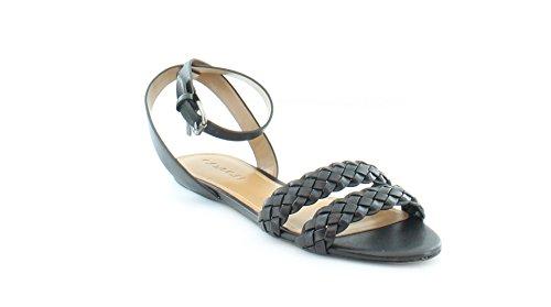 Sandali Con Cinturino Alla Caviglia Casual Da Donna In Pelle Con Plateau Nero
