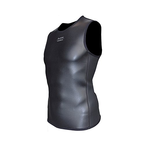 ROWEQPP Men Women Swimming Vest Slim Without Sleeves Keeping Warm Diving Tops 1705A L