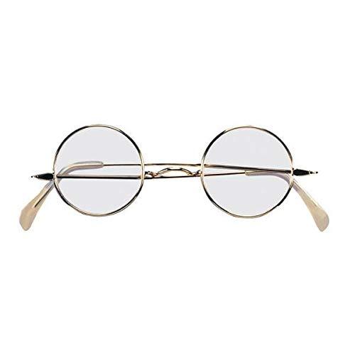 Rubie's Adult Novelty Round Santa Glasses, Metallic, One Size