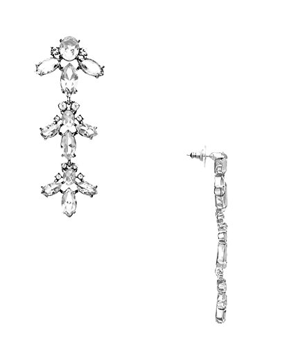 (Kate Spade New York 'Ice Queen' Crystal Chandelier Earrings, Clear)