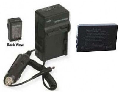 Battery + Charger for Sanyo VPC-TH1BL, Sanyo VPC-TH1EX, Sanyo VPC-TH1GX, Sanyo DMX-FH1, Sanyo VPC-HD2000GX