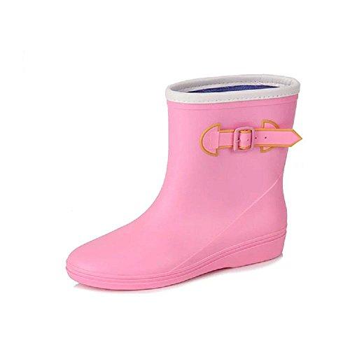 cargadores de Pink hebilla antideslizantes laterales lluvia la los de Forme Ezq5S