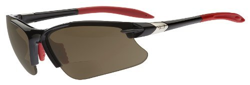 Dual Eyewear SL2 Pro Sunglasses: +1.5 Power Magnification; Black Frame/Brown - Sports Magnification With Sunglasses