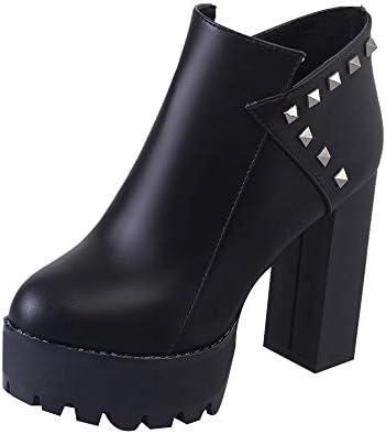 ZARLLE_Botas Botas,Botines cuña para Mujer Otoño Invierno 2018 Moda tacón Alto de Vestir para Mujer Retro Botines Zapatos Fiesta de Invierno