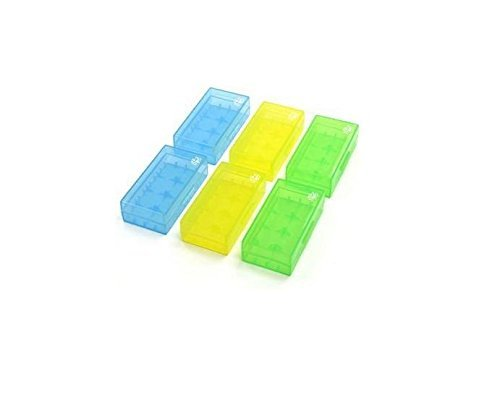 (Case Star 6pcs (Blue, Green, Yellow) Battery Storage Case for 18650 or CR123A Battery)