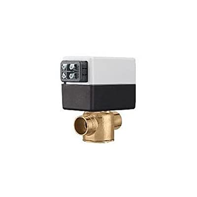 Caleffi Z55 Z-One Z55 2-Way Valve and Actuator Set with Terminal Block and AUX Switch, 3/4-Inch by Caleffi