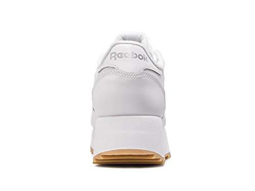 Leather Double Gum Dv6472 Classic Reebok White Womens Silver Eqw1Ex64