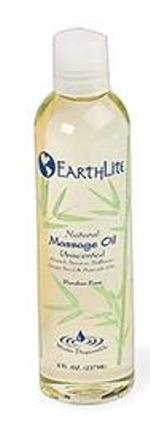 EARTHLITE Massage Oil Nut Free - Paraben Free, Silicone Free, Mineral Oil Free, Light & Smooth Massage Oil for all massages 8oz