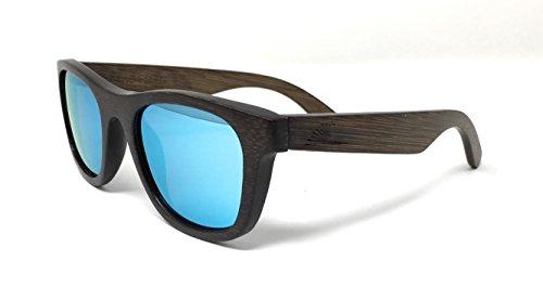 87169129b9 Polarized   Floating Bamboo Wood Wayfarer Sunglasses