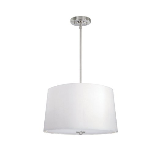 Laura Ashley Lighting PSY016 Selby 16-Inch Pendant, Satin Nickel