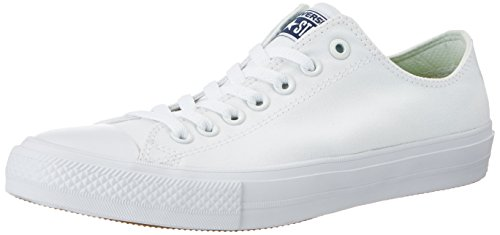 Converse Unisex Chuck Taylor II Ox White/White Basketball Shoe 13 Men US (Shoes All Converse White)