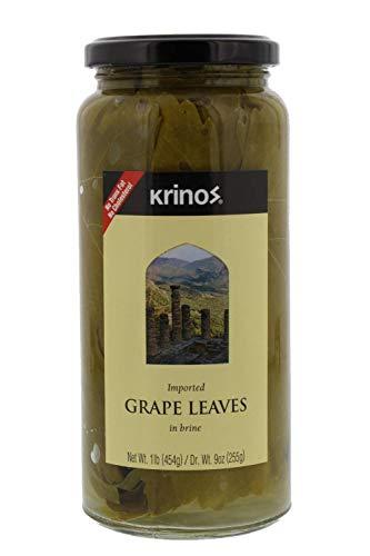 Krinos Gourmet Grape Leaves in Vinegar Brine, 16 Ounces, 454 - Grape Leaves