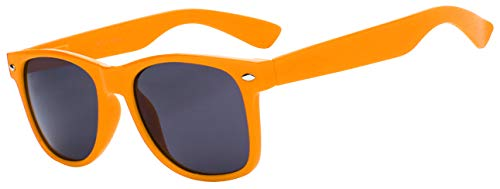 Orange Sunglasses Bulk - Classic Vintage Smoke Lens Orange Frame