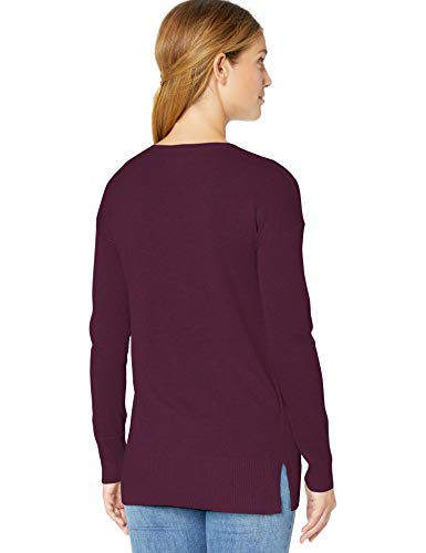 burgundy Essentials Bur neck V Amazon Rouge Tunic 7vXndw